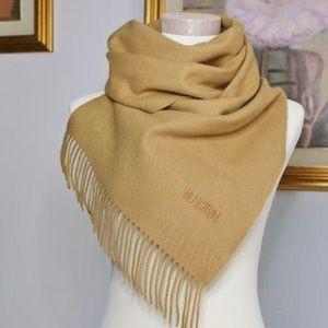 Moschino Accessories - NEW moschino merino lambswool designer scarf tan